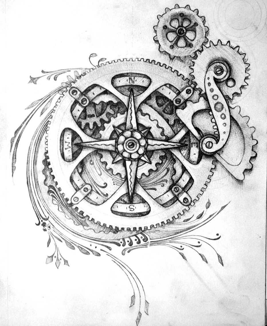 Clockwork Tattoo Steampunk Tattoo Clockwork Tattoo Gear Tattoo