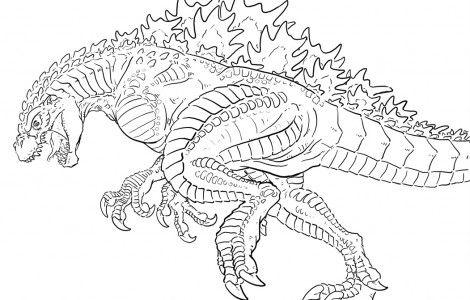 Godzilla Art Coloring Pages Dragao Desenho Dicas De Como Dobrar Roupas Dragoes