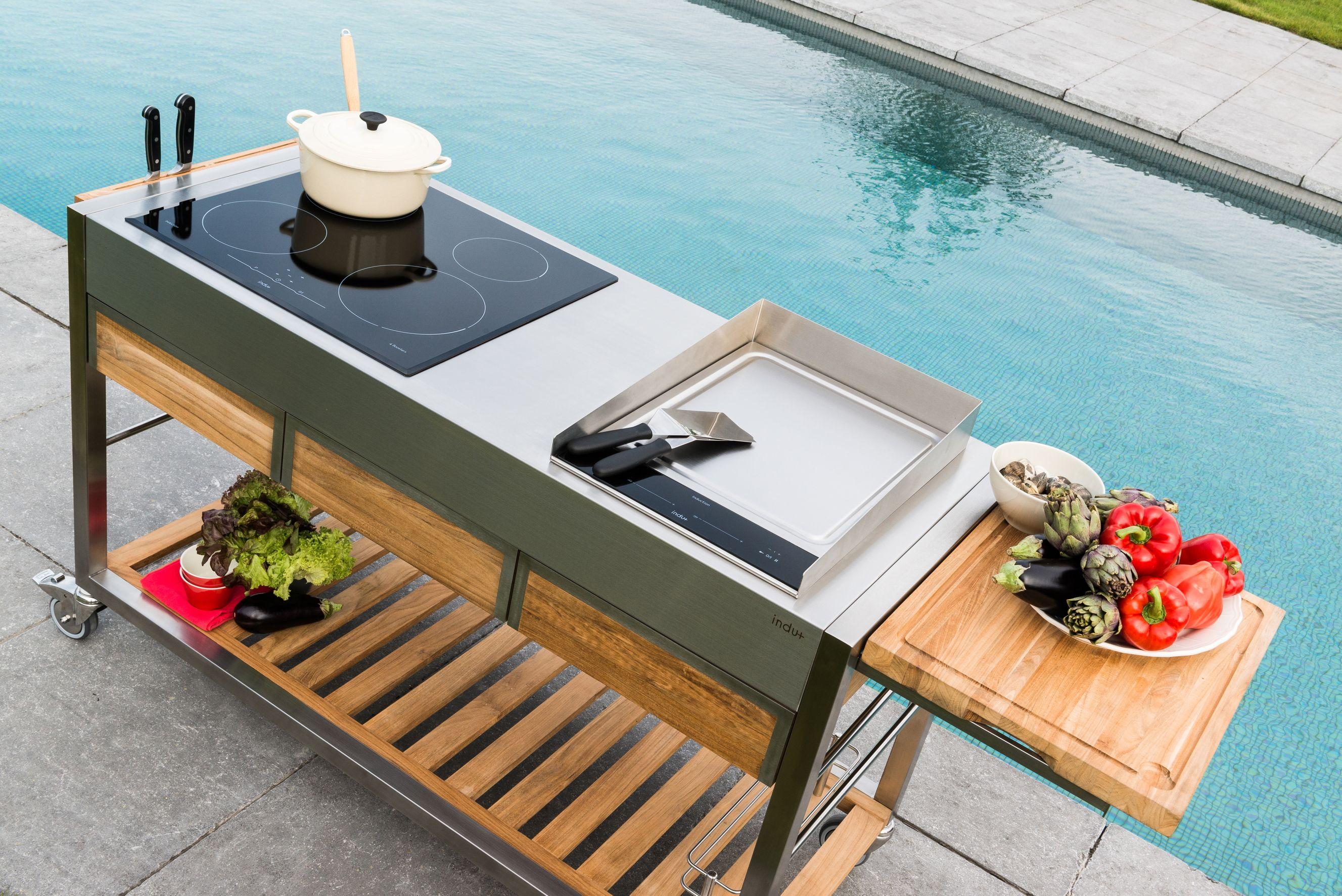INDU+ TomBoy Teak mobile outdoor kitchen | INDU+ | Pinterest