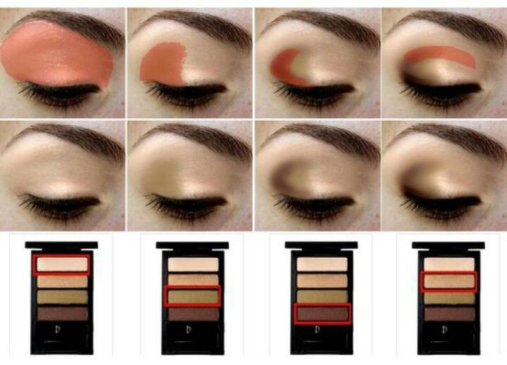 This Is A Perfect Outline Of How Eyeshadow Is Supposed To Be Put