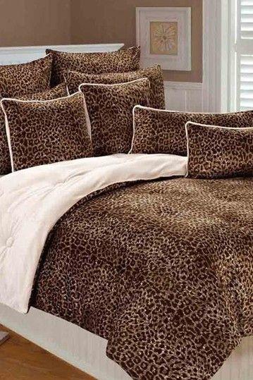 Thro Home Raquel Cheetah Printed Microplush Comforter Set