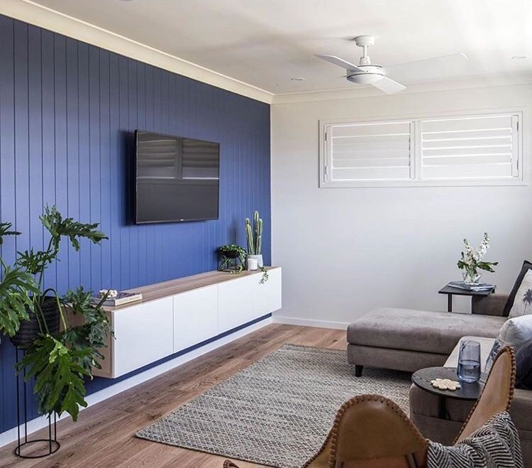Vj Panelled Feature Wall In Modern Home Feature Wall Bedroom