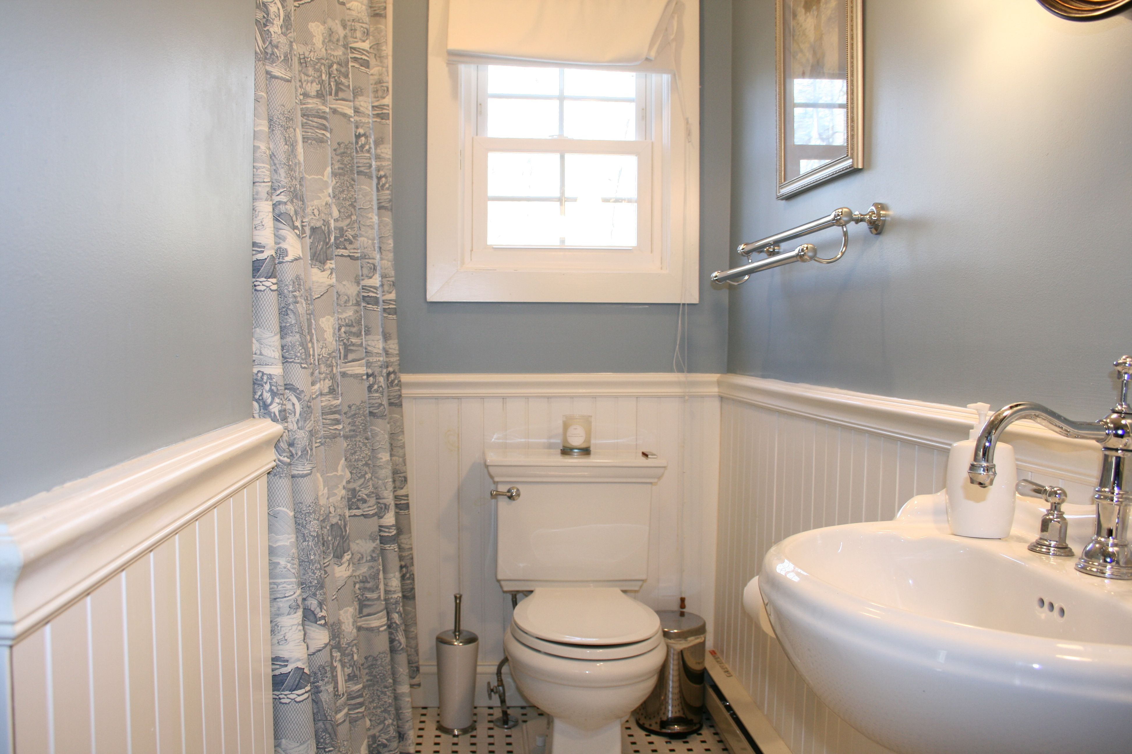 Toile Bathroom Ideas: Country Bathroom Post-renovation By Cathy Hobbs Design
