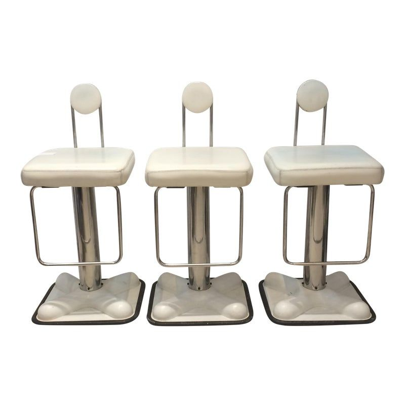 1970s Vintage Joe Colombo Birillo Bar Stools For Zanotta Set Of 3 In 2020 Bar Stools Modern Stools Stool