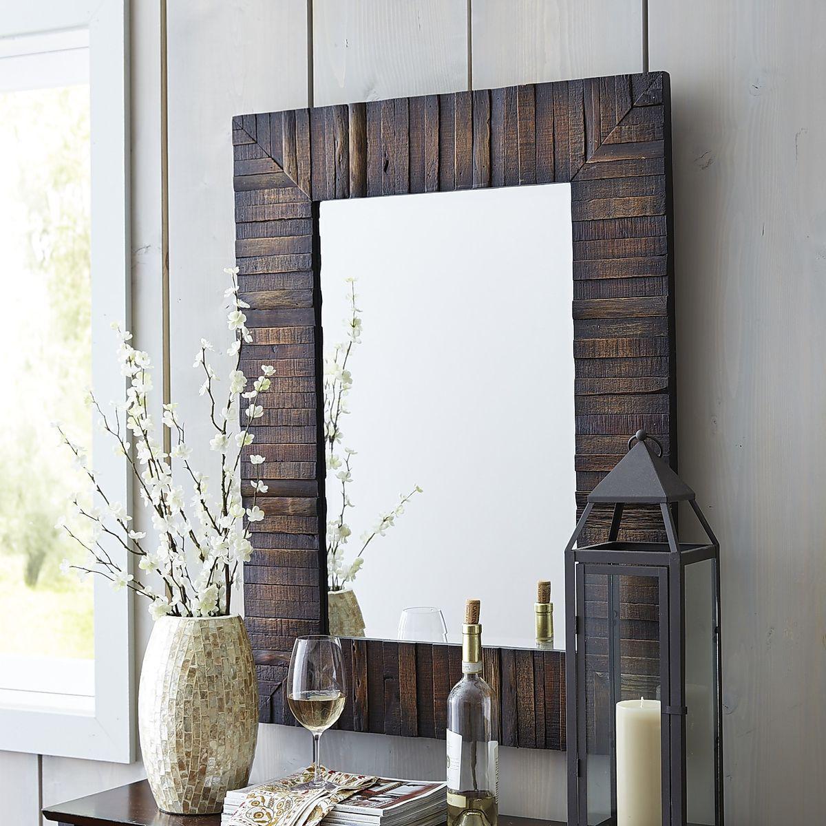 6 pane window frame ideas  eternal wood framed x mirror  apartment ideas powder room and