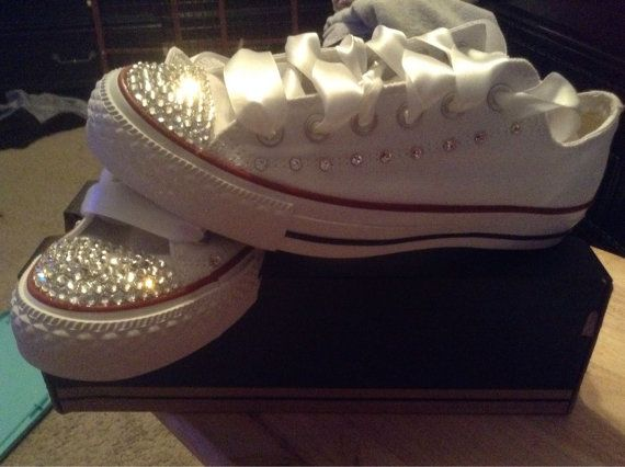 Swarovski Crystal Blinged Out Converse Womens by BlingedOutCons 110$
