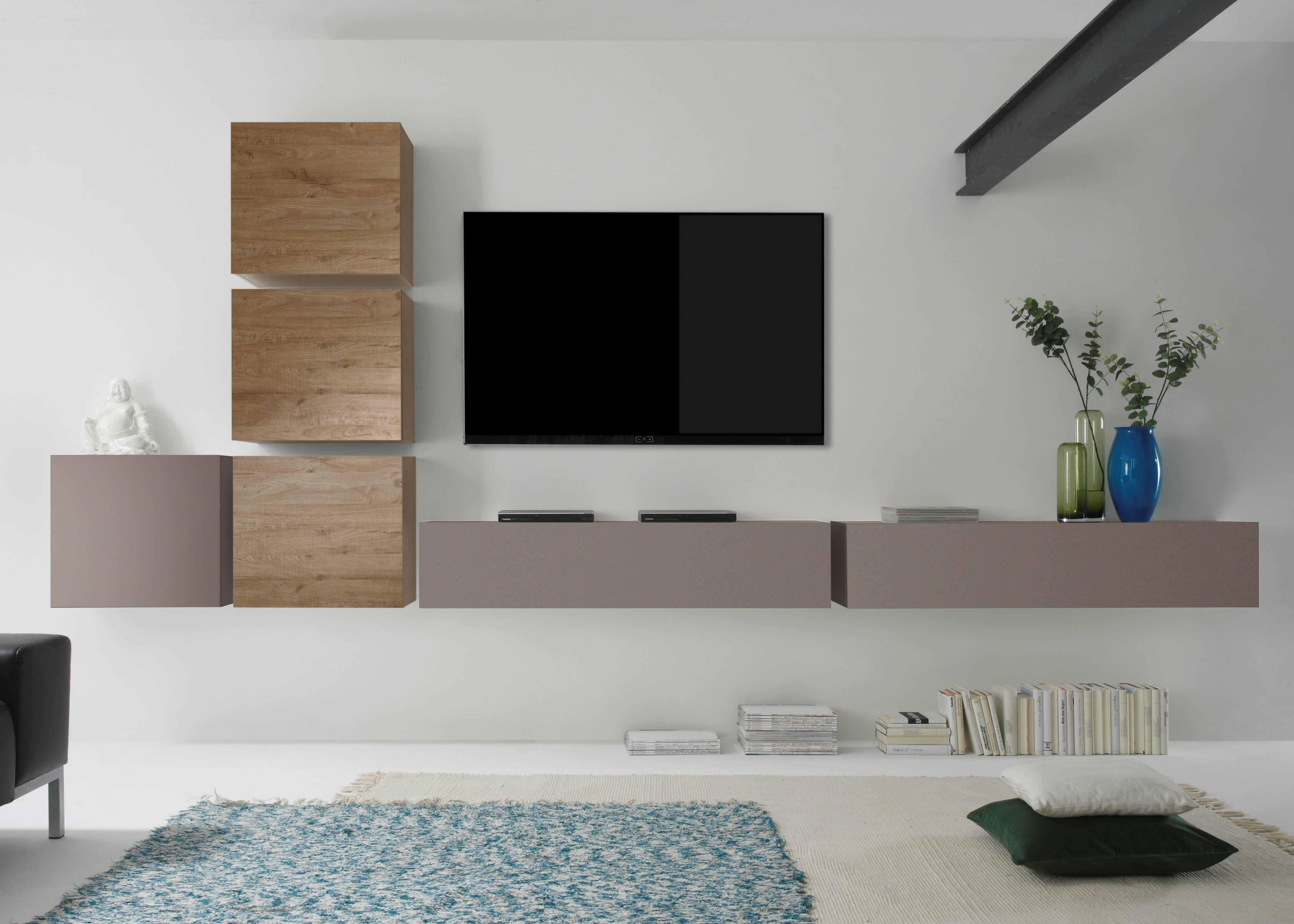 Das Puristische Design Der Wohnwand Como Uberzeugt Auf Ganzer
