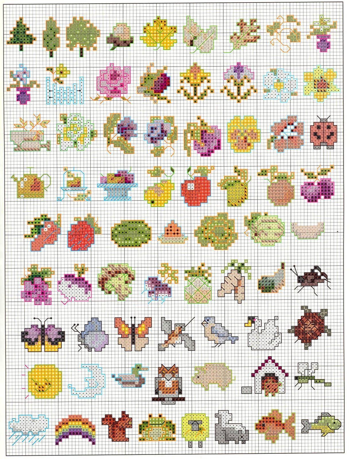 Patrones de dibujos pequeños y faciles | Needlework favorites ...