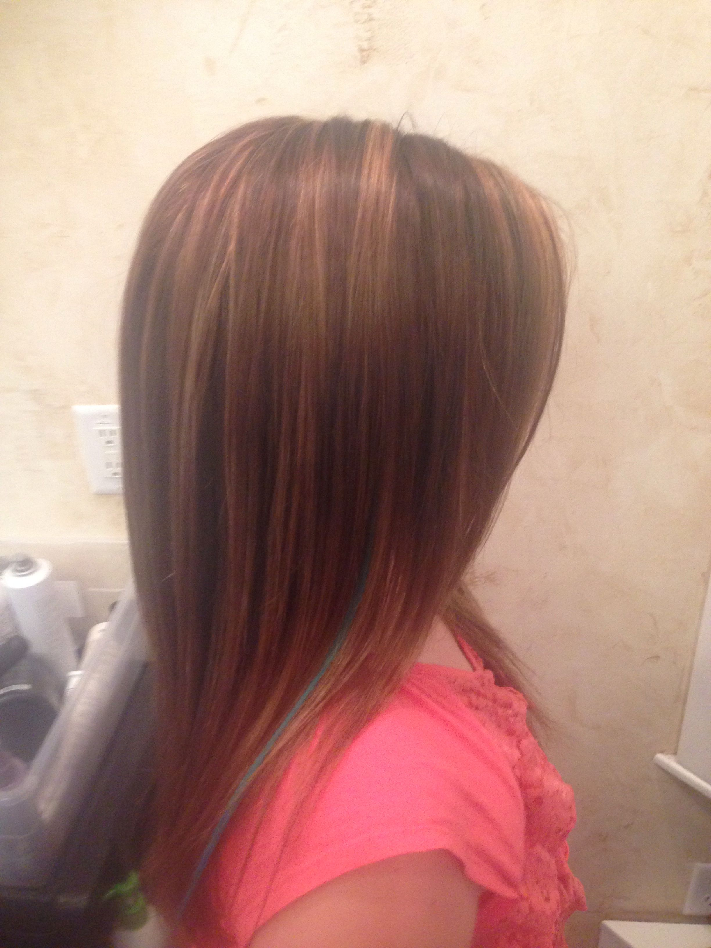 Medium Auburn Brown With Golden Copper Highlights And A