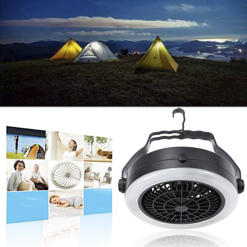 oobest Rechargeable Outdoor C&ing Portable LED Fan Light Hanging Tent L& With Hook Multifunction Battery Or : rechargeable tent fan - memphite.com