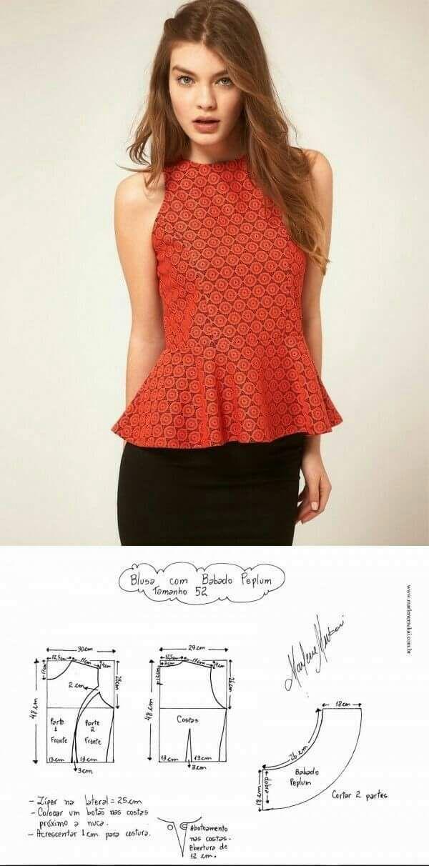 Pin von Isabel auf camisas | Pinterest | Blusen, Näharbeiten und Nähen