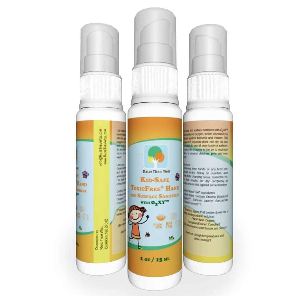 3 Pack Kid Safe Certified Toxicfree Hand And Surface Sanitizer