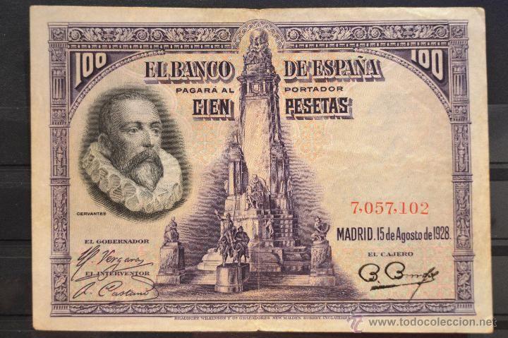 BILLETE 100 PESETAS 1925 15 DE AGOSTO DE 1928 SIN SERIE ESPAÑA
