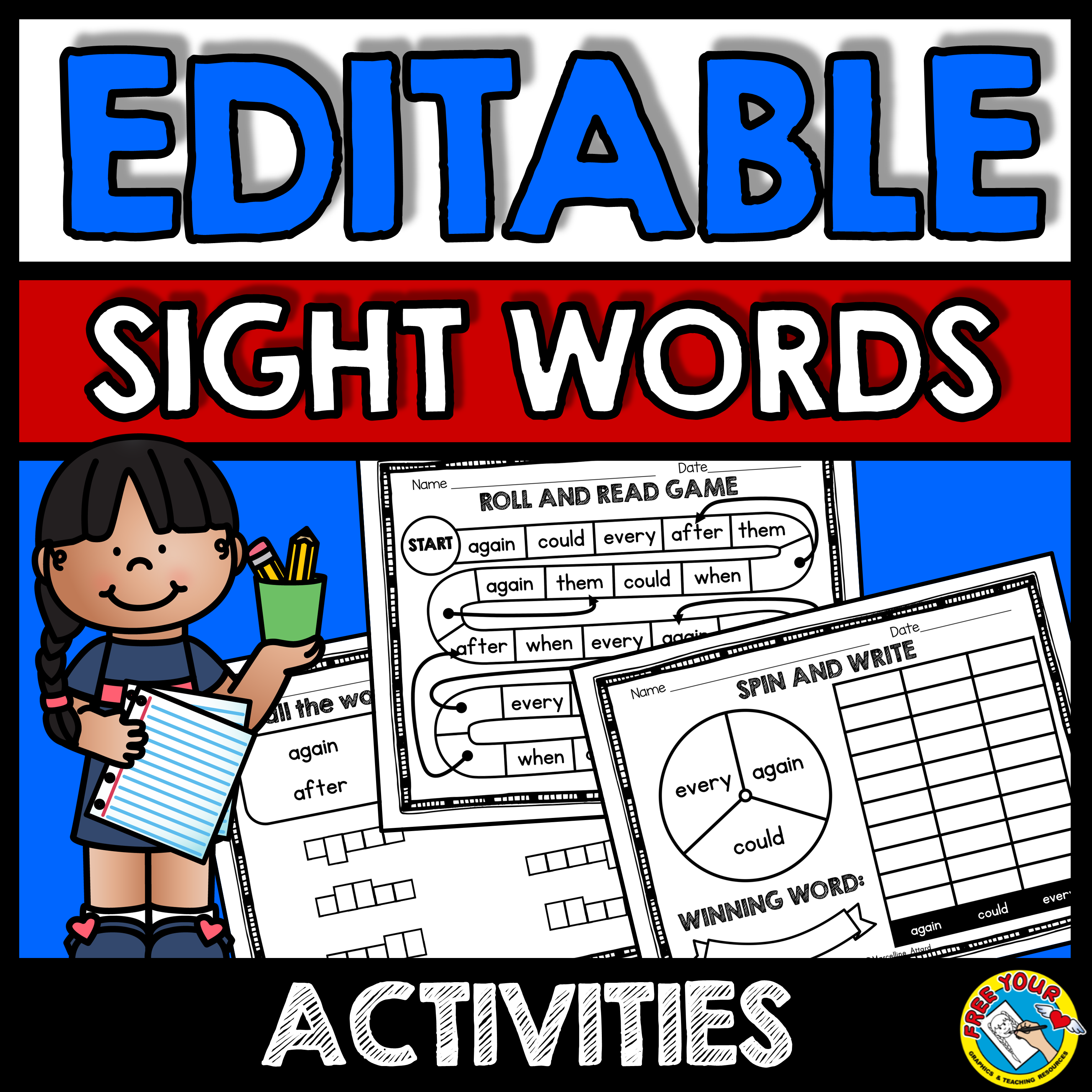 Editable Sight Words Worksheets And Activities
