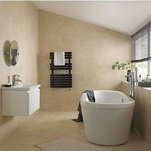 Wickes Emperador Wall Tile Cream 250 X 500mm Wickes Co Uk Beige Ceramic Wickes Dream Bathroom