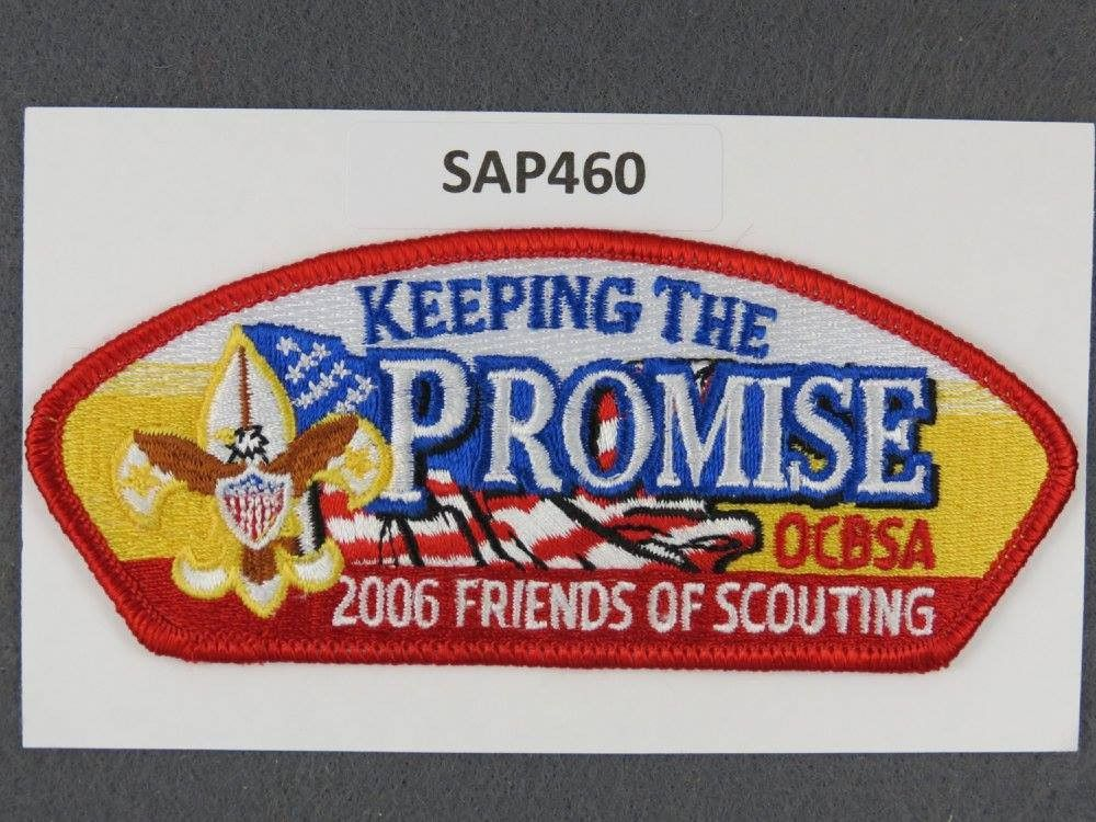 Orange County Council CSP 2006 Friends of Scouting FOS Red Border
