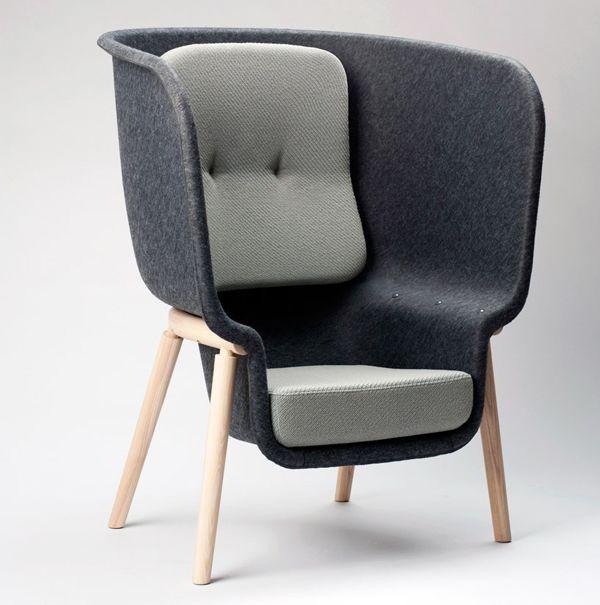 Pod by Benjamin Hubert 5 Sustainable PET Felt Chair: Pod by Benjamin ...