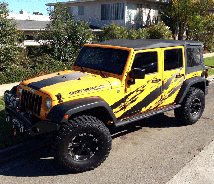 Carbon Fiber Vehicle Wraps San Diego Custom Jeep Wrangler Jeep