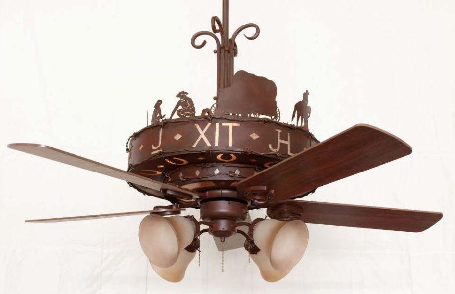 ceiling fan rustic lighting