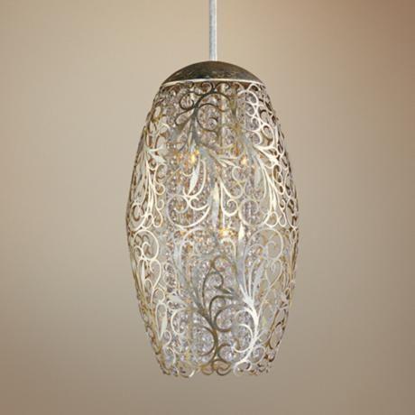 Maxim Arabesque 13 Wide Golden Silver Pendant Light V3349 Lamps Plus