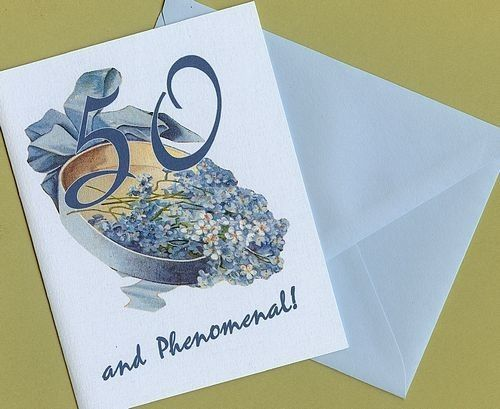 50th Birthday Card 50 and Phenomenal by PetScribbles on Etsy, $4.00