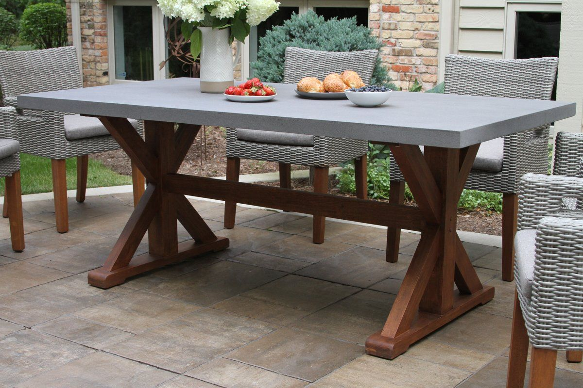 Jacques Stone Concrete Dining Table Dining Table Dining Table With Bench Outdoor Dining Table