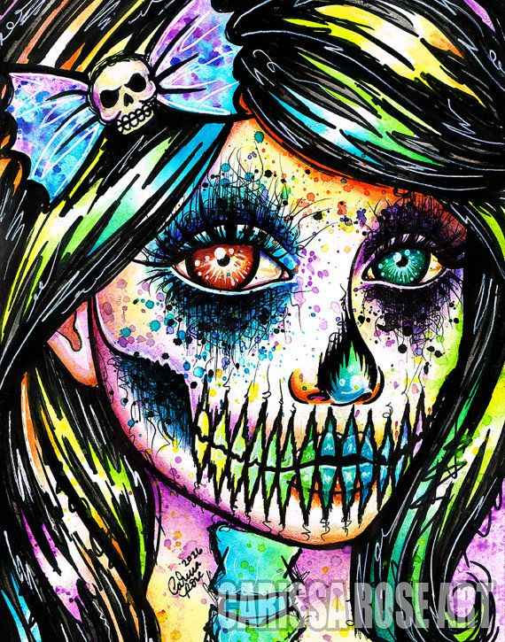 Signed Art Print Pop Art Rainbow Skull Splatter Portrait  Firmado Lmina Pop Art Arco Iris Calavera Salpicadura Retrato Example Of A Proposal Essay also Healthy Food Essay  Thesis Examples For Essays
