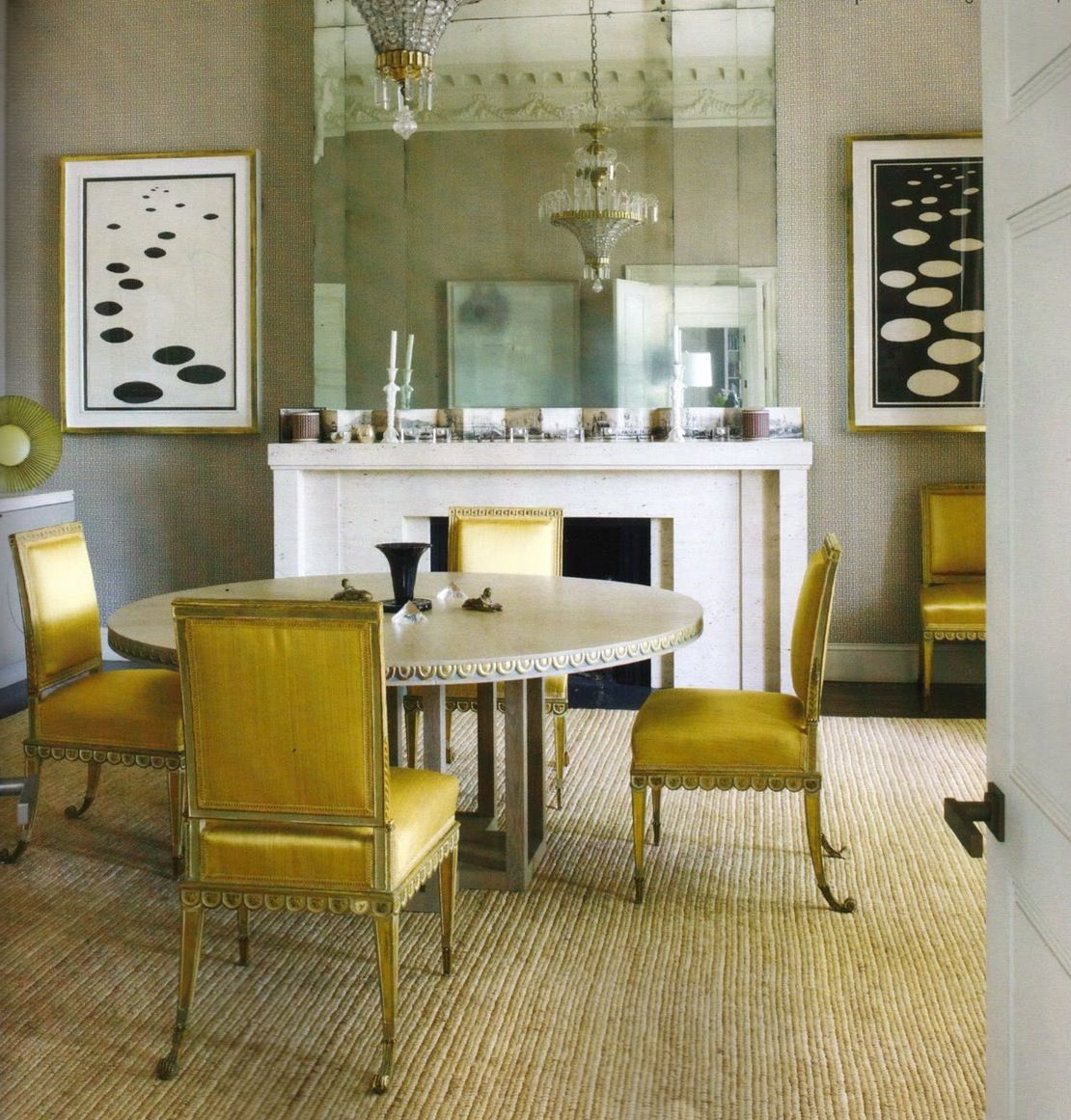 Modern and elegant dining areau great detail in the chairs and table