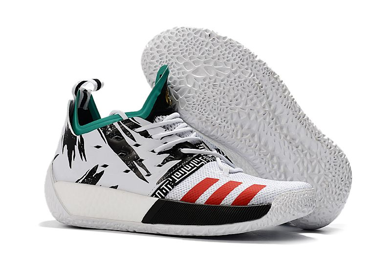74b8a039b20d 2018 adidas Harden Vol. 2 White Black Green-Red Free Shipping