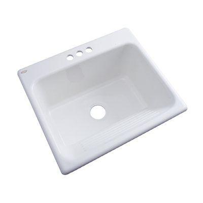 Dekor Natural Stone Composite White Self Rimming Composite Granite Laundry  Sink $148.00 Loweu0027s