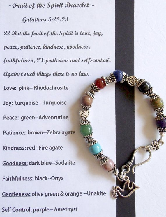 Fruit Of The Spirit Bracelet Find A Inexpensive Way To Make This With T S For Awan