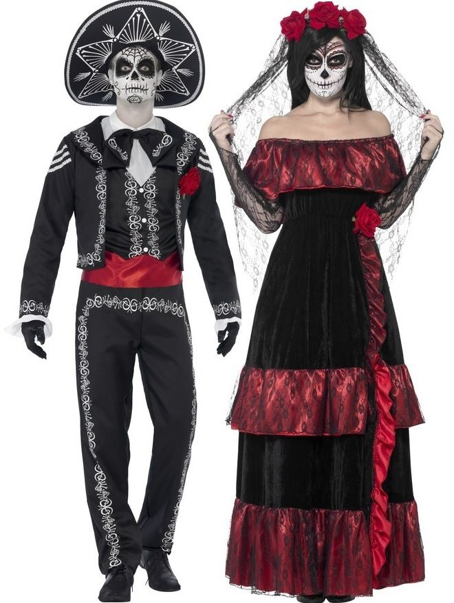 Couples Day of the Dead Costumes - Fancy Me Limited ...