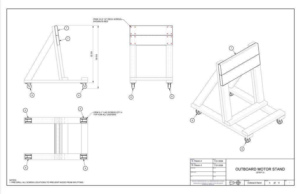 building an o b motor stand instructional page 1 On outboard motor rack plans