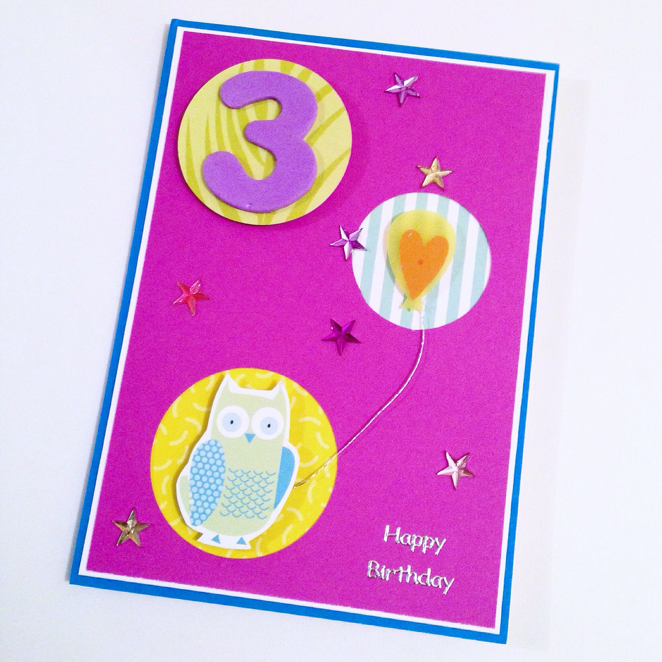 Loved Making This 3 Year Old Birthday Card For My Little