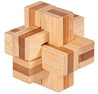 4pcs set 3d de madera de bamb enclavamiento burr puzzle - Jugueteria para adultos ...