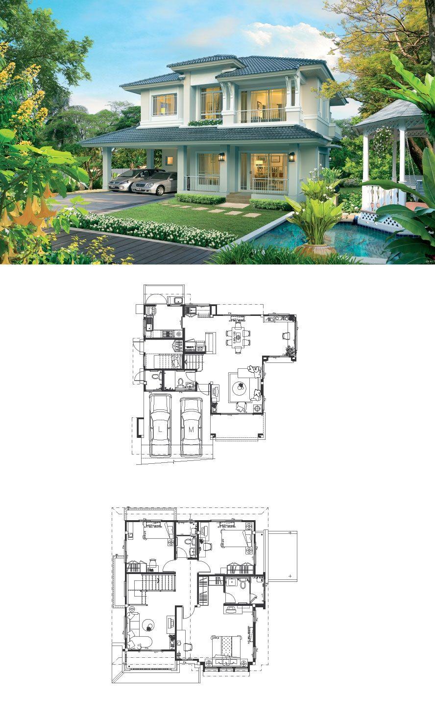 Land And Houses Arsitektur Denah Rumah Rumah Impian