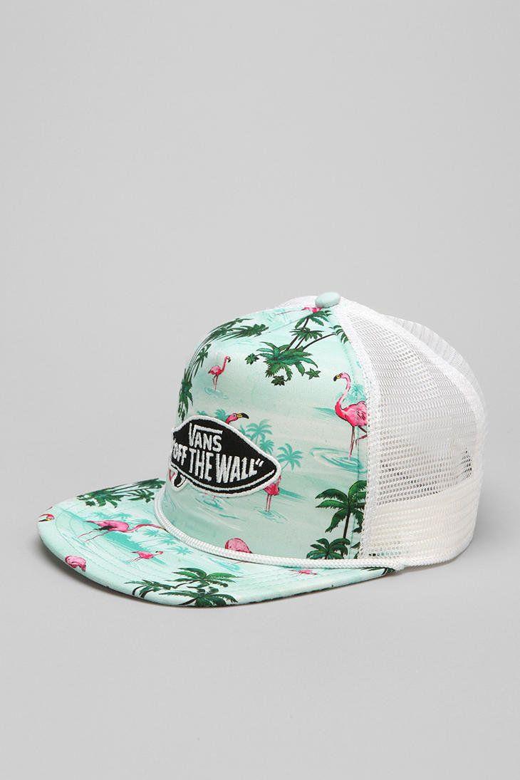 Urban Outfitters - Vans Pink Flamingo Trucker Hat  c6d96f4b030