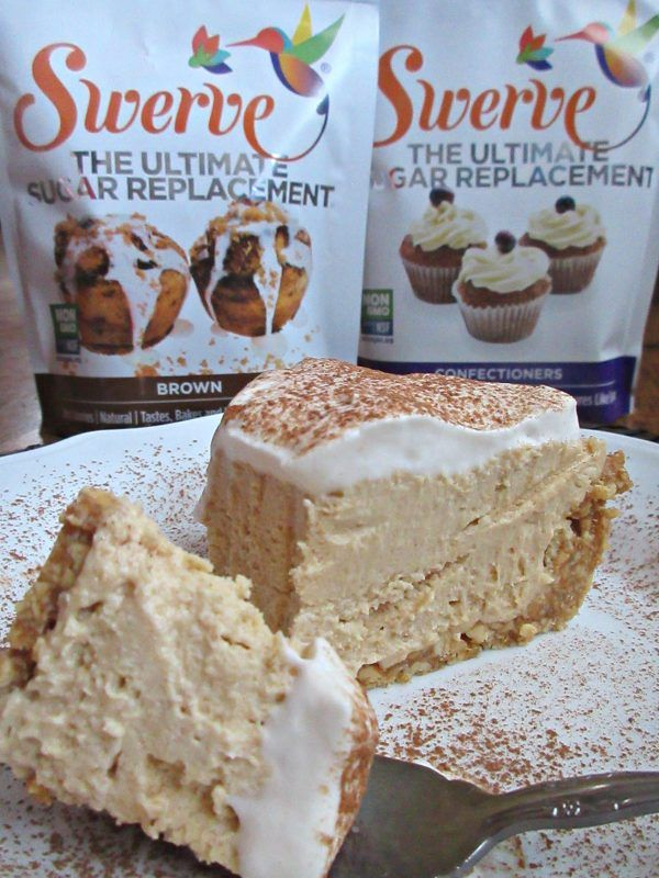 Keto Peanut Butter Pie is creamy, delicious and the perfect keto dessert. It's low carb, high fat and sugar free so you can enjoy! #ketodessert