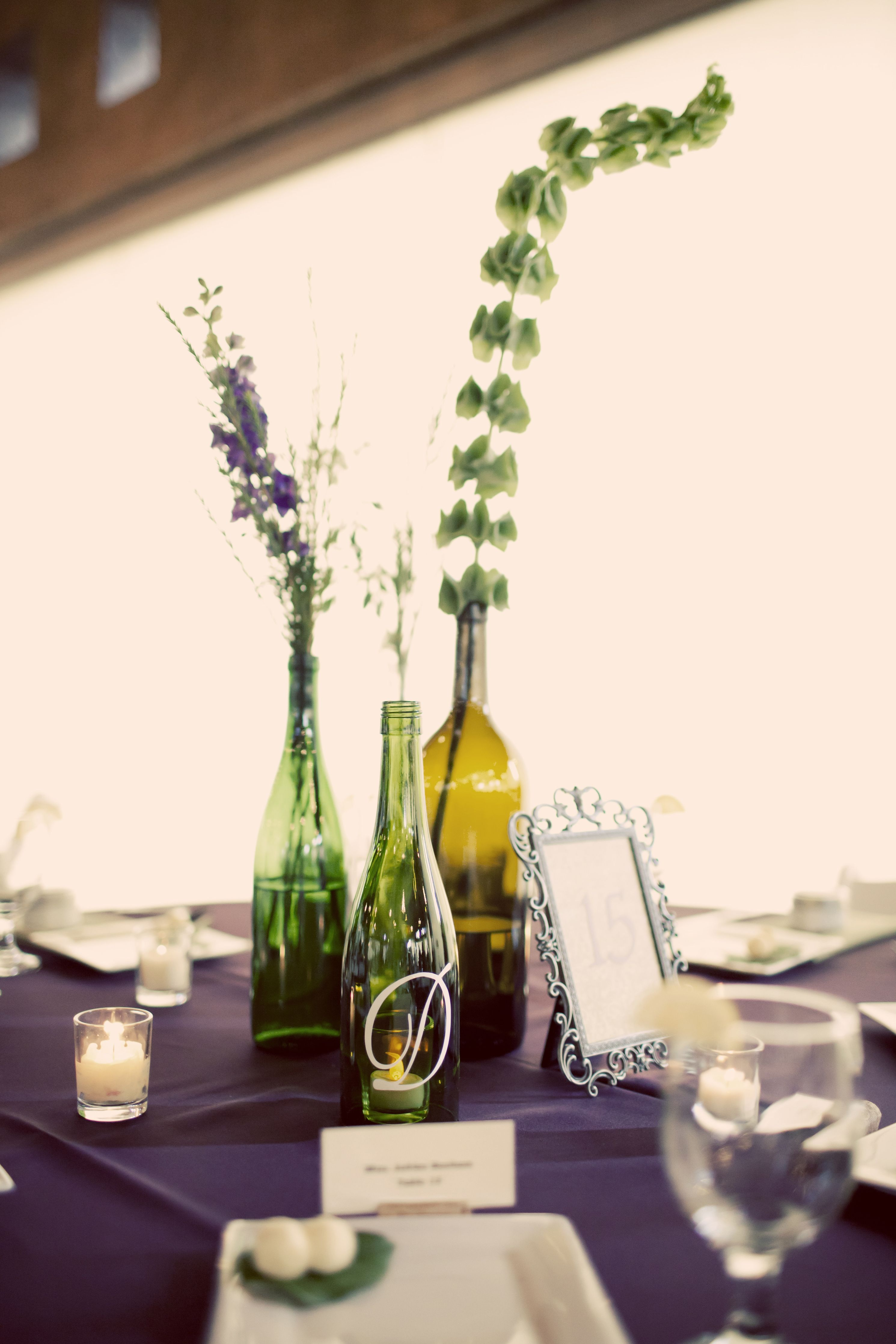 Contemporary Wedding Flowers In Wine Bottles Pattern - The Wedding ...
