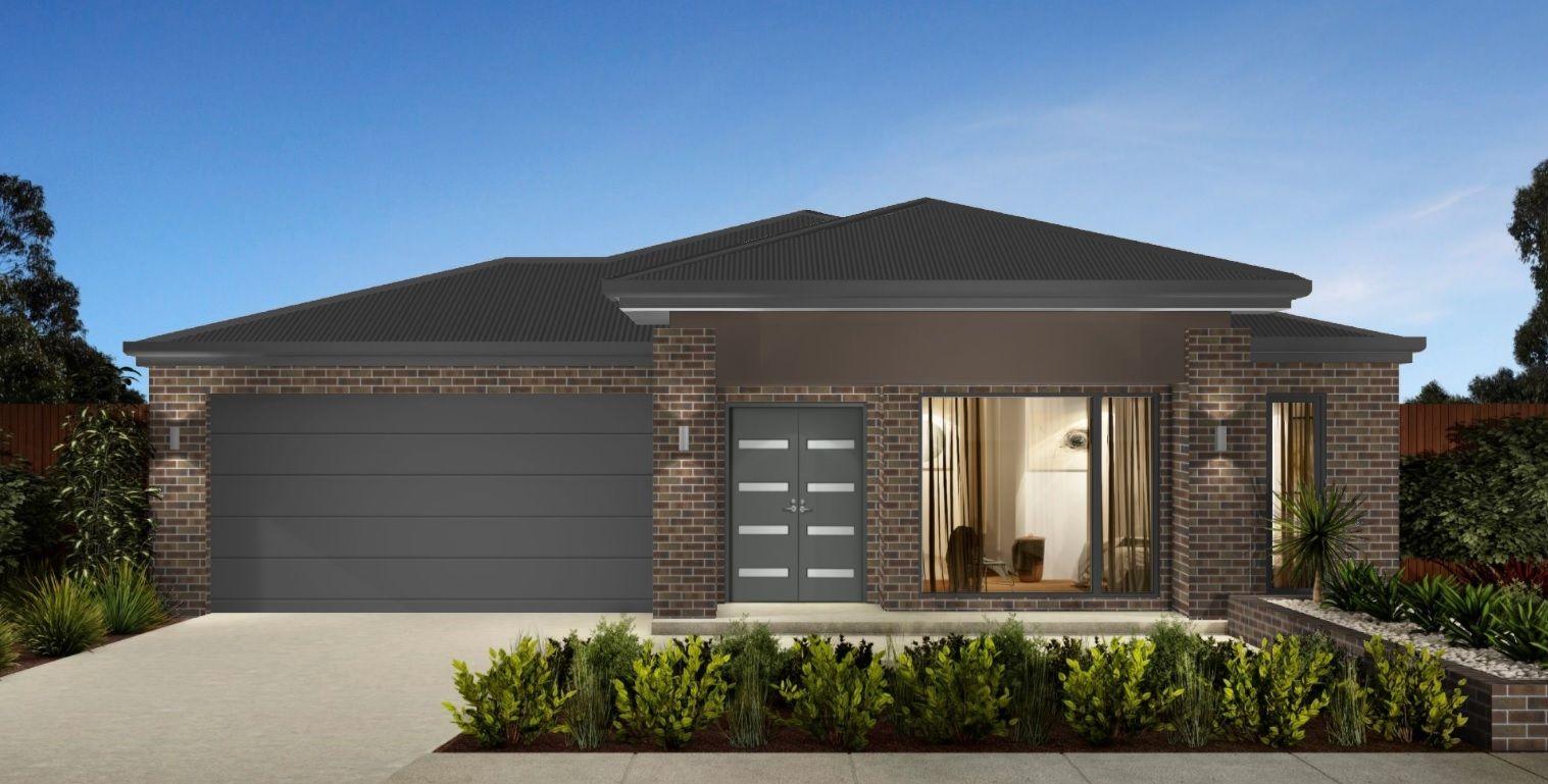 Mock up with Austral Hawthorn bricks Colorbond Basalt roof gutter fascia garage & Mock up with Austral Hawthorn bricks Colorbond Basalt roof ...