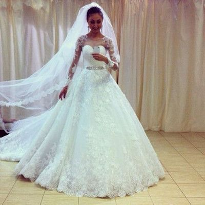 Princess Style Wedding Dress With Long Sleeves,Dresses For Brides ...