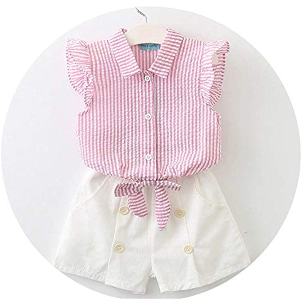 XEDUO Toddler Baby Boys Girl Plaid Tops T Shirt Vest Shorts Outfits Clothes Set