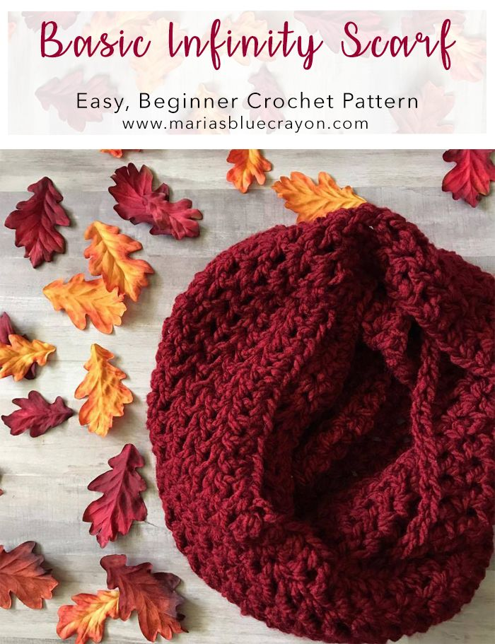 Free Crochet Pattern for a Basic Infinity Scarf | Easy Pattern for ...
