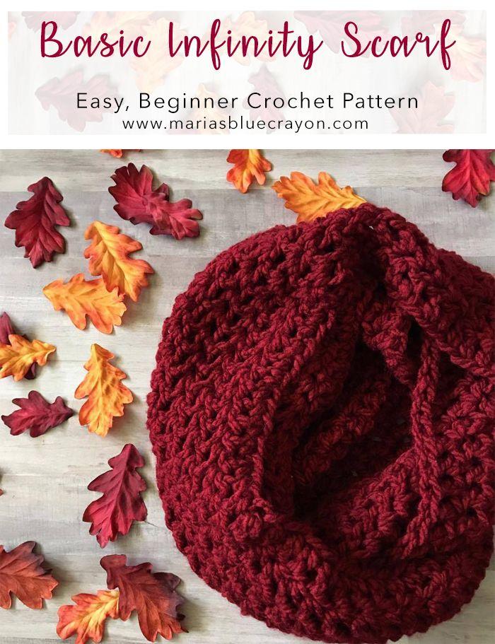 Crochet Infinity Scarf Tutorial Pinterest Easy Patterns Double