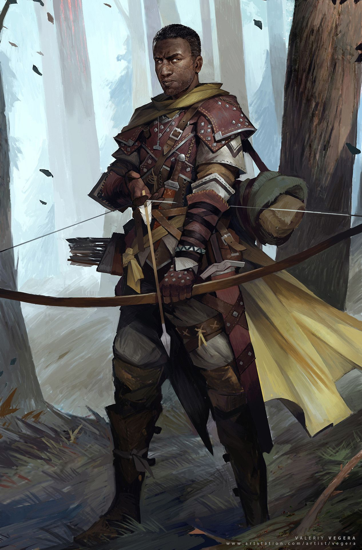 "menofcolorinfantasyart: ""Character concept for Pathfinder ..."