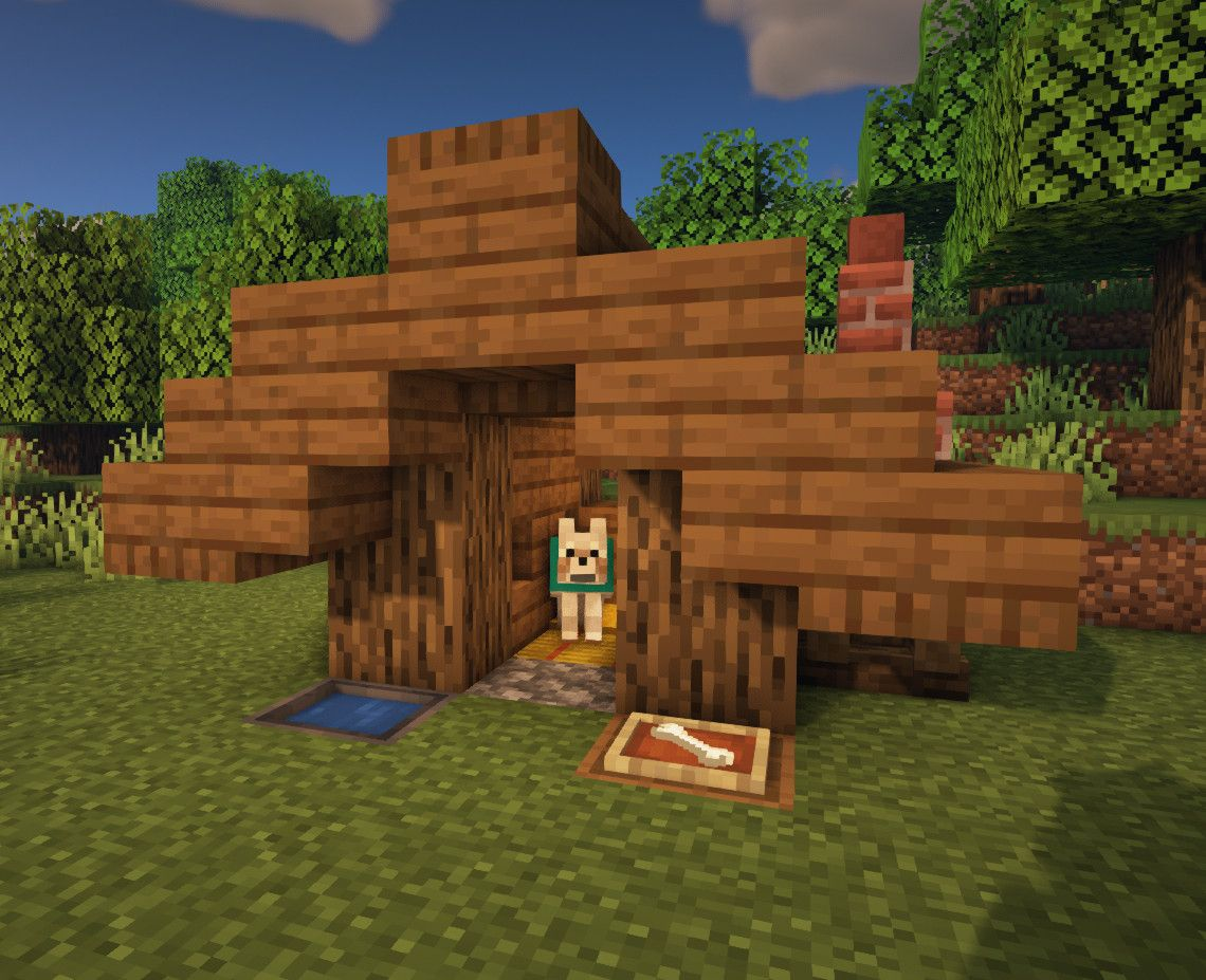 Minecraft Dog Pet House Tutorial In 2020 Easy Minecraft Houses Minecraft Dog House Cute Minecraft Houses