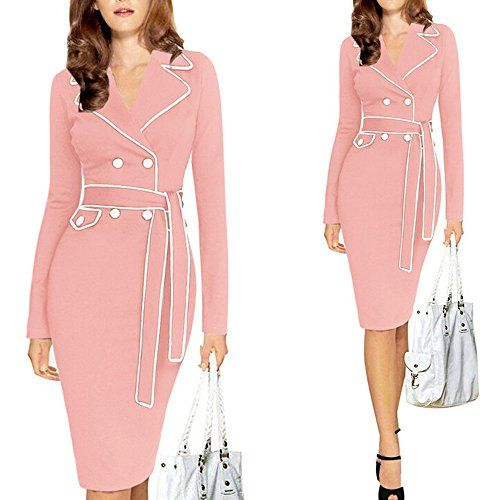 Laffeya Hot Star Style New Autumn and Winter Silm and Elegent Long-sleeved Dress (M)