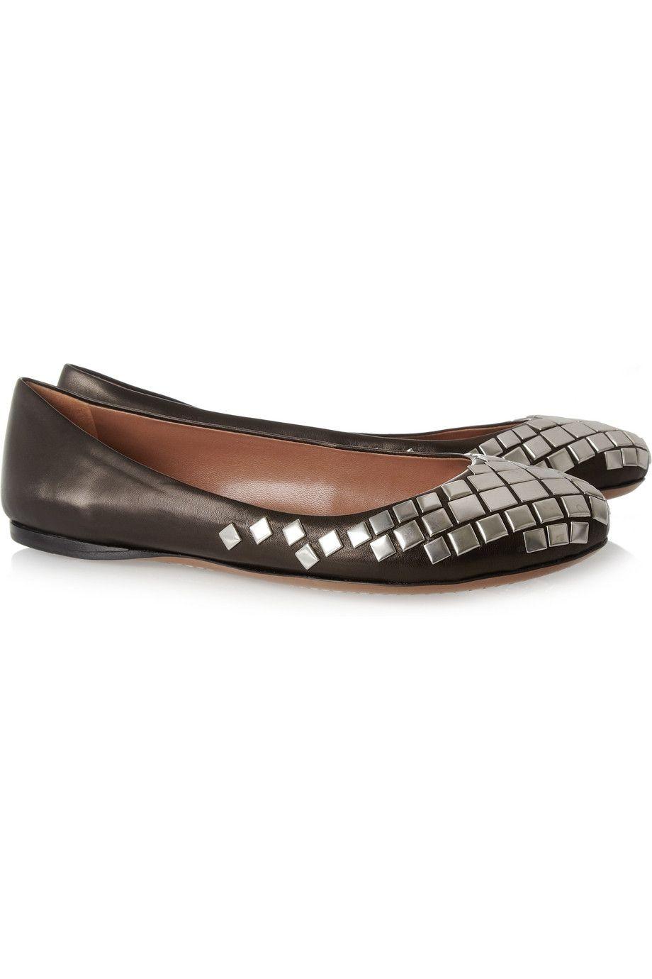 Alaïa Studded Leather Flats 2014 sale online kF3LeF4BWr