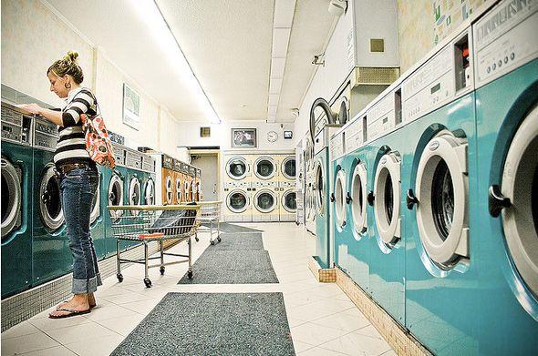 Light Blue Laundromat Laundromat Laundry Design Coin Operated