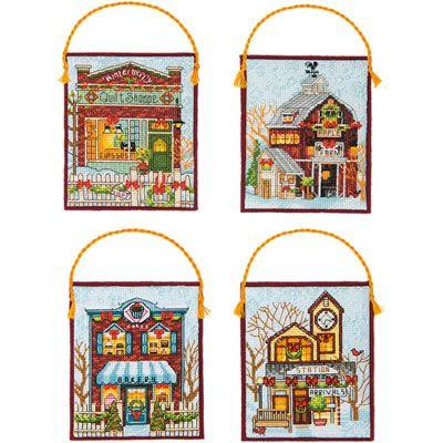 Winter Village Ornaments - Dimensions Pattern